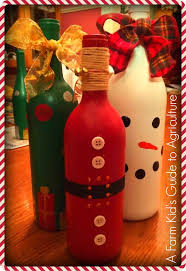 How To Decorate A Wine Bottle Wine Bottle Diy Santas And Snowmen And Christmas Trees Oh My