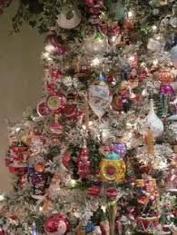 my aunt pj u0027s christmas tree all decorated with christopher radko