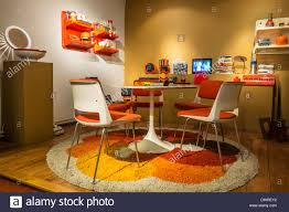 Modern 70 S Home Design by Living Room Orange Living Room Interior Showing Home Furniture Of