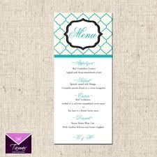 Menu Design For Dinner Party | printable menu card for wedding shower dinner party custom you