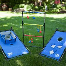 outdoor wonderful lawn for backyard with washer toss game and