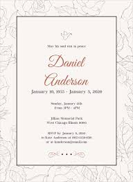 funeral invitation 27 funeral invitation templates free sle exle format