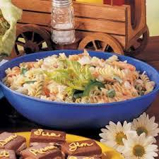 cold pasta dish rainbow rotini pasta salad recipe taste of home