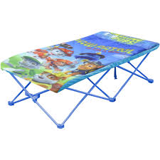 Toddler Folding Bed Table Fetching Nickelodeon Paw Patrol Portable Travel Bed Walmart
