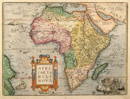 Nova Map Africae Tabula Nova Ortelius Africa Continent 1603