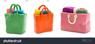 assorted shopping bags made clay stock photo 157794050 shutterstock