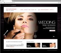 professional makeup artists websites corporate website design and development for naturodemix make up