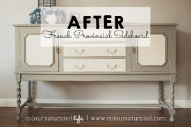 furniture makeover french provincial sideboard colour saturated