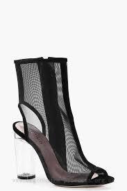 black friday boot deals black friday store deals julia mesh clear heel shoe boot for women