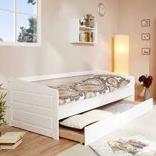 Schlafzimmer Komplett In Buche Holzbett Saliara In Weiß Aus Buche Massiv Mit Ausziehbett