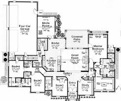 one story floor plans with bonus room plan 48375fm luxurious master suite bonus rooms room and change