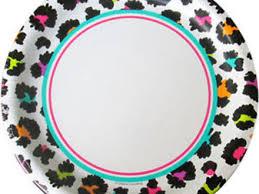 cheetah print party supplies 39 cheetah print paper plates cheetah print plates zazzle