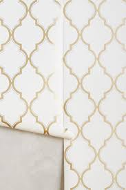 golden trellis wallpaper anthropologie
