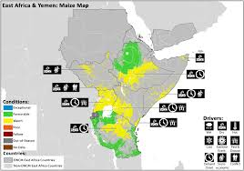 East Africa Map East Africa Maize U2013 Geoglam Crop Monitor