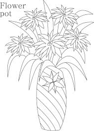 decorative flower pots and vases coloring pages