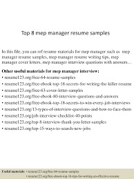 Executive Resume Cover Letter Sample by Top8mepmanagerresumesamples 150514055356 Lva1 App6892 Thumbnail 4 Jpg Cb U003d1431582880
