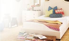 bedroom elegant white top mattress on elegant bed linens by