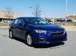 2017 subaru impreza sedan blue blue subaru impreza for sale carmax