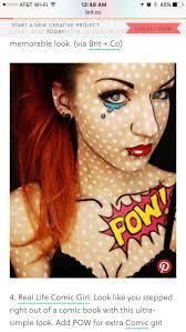Halloween Makeup Comic 271 Best Halloween Makeup Images On Pinterest Halloween Make Up