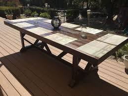 Diy Large Coffee Table by Diy Large Outdoor Dining Table Seats 10 12 Hometalk