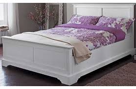 White Leather Bed Frame King Time Living Swan White 5ft Kingsize Real Leather Bed Frame By