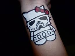 domo tattoos hello kitty x stormtrooper tattoo by hkdomo on deviantart