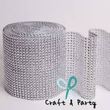 bling ribbon 4 75 x 10 yards diamond mesh wrap roll rhinestone sparkle