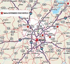 map of metro atlanta metro extended stay hotels metro atlanta suites
