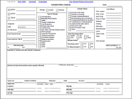 Change Order Template Excel Manufacturing Engineering