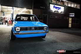 volkswagen golf blue forge motorsports volkswagen mk1 golf u2026blue thunder superfly autos
