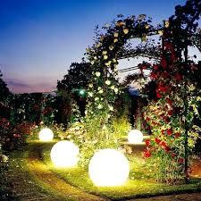 Outdoor Globe Light Solar Garden Globe Lights Color Changing Garden Stake Light
