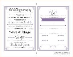 wedding ceremony programs wording wedding weddingms template sop exle ceremonym image