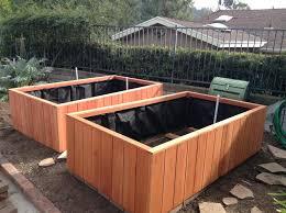 Redwood Planter Boxes by Glendora Ca U2013 Big Raised Bed Redwood Garden Boxes Curtis Custom