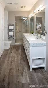 gray tile floor with white vanity bathroom ideas love how they