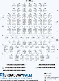 Comedy Barn Seating Chart Seating Chart Main Theatre Broadway Palm Dinner Theatre Ft