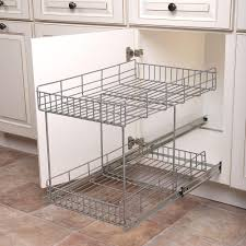 Pull Out Kitchen Cabinet Shelves Real Solutions For Real Life 17 In H X 15 In W X 22 In D Half