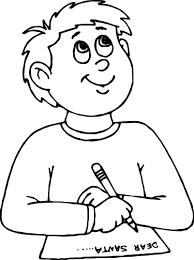dear santa write boy coloring page wecoloringpage