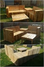 Pallet Furniture Patio by 539 Best Pallet Outdoor Furniture Images On Pinterest Pallet