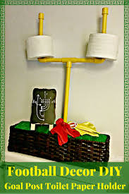 football decor diy goal post toilet paper holder for the big
