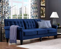 blue velvet chesterfield sofa furniture enchanting blue tufted velvet sofa interior design