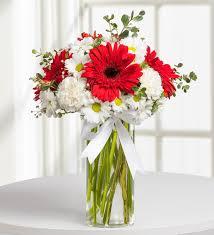 nobility red white flower arrangement kc143591