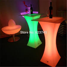 modern plastic illuminated rechargeable led high cocktail coffee