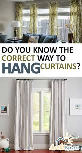 do you know the correct way to hang curtains