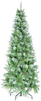 uk g 7ft 2 1m snow white and green slim artificial tree