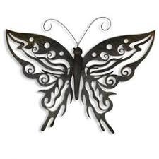decorative metal butterfly garden wall art black brown finish