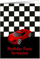 race car birthday invitations for kids from greeting card universe