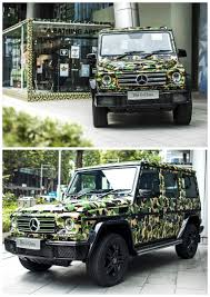 wrapped g wagon the mercedes benz g class parked in singapore wrapped in an
