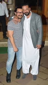 sanjay dutt hosts diwali bash salman aamir khan rishi kapoor