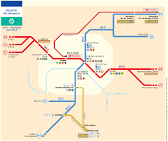 Metro Paris Map by Paris Airport Transportation Map U2022 Mapsof Net