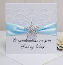 congrats on wedding card personalised snowflake wedding congratulations card by made with